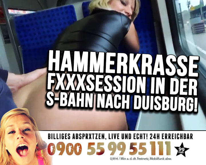 Hammerkrasse Ficksession im S-Bahn!